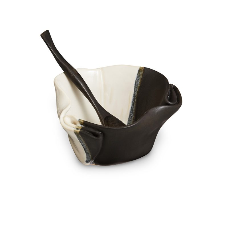 Black and White Guacamole Bowl