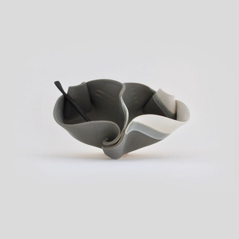 Pistachio Bowl shown in Grey and White