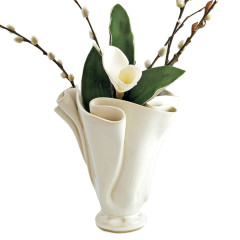 Sculpted Vase ~ shown in Simply White