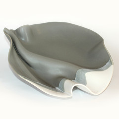 Abstract Bowl - shown in Grey and White
