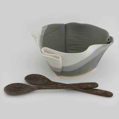 Serving-Bowl - shown in Grey and White