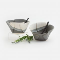 Bowl shown in Grey and White