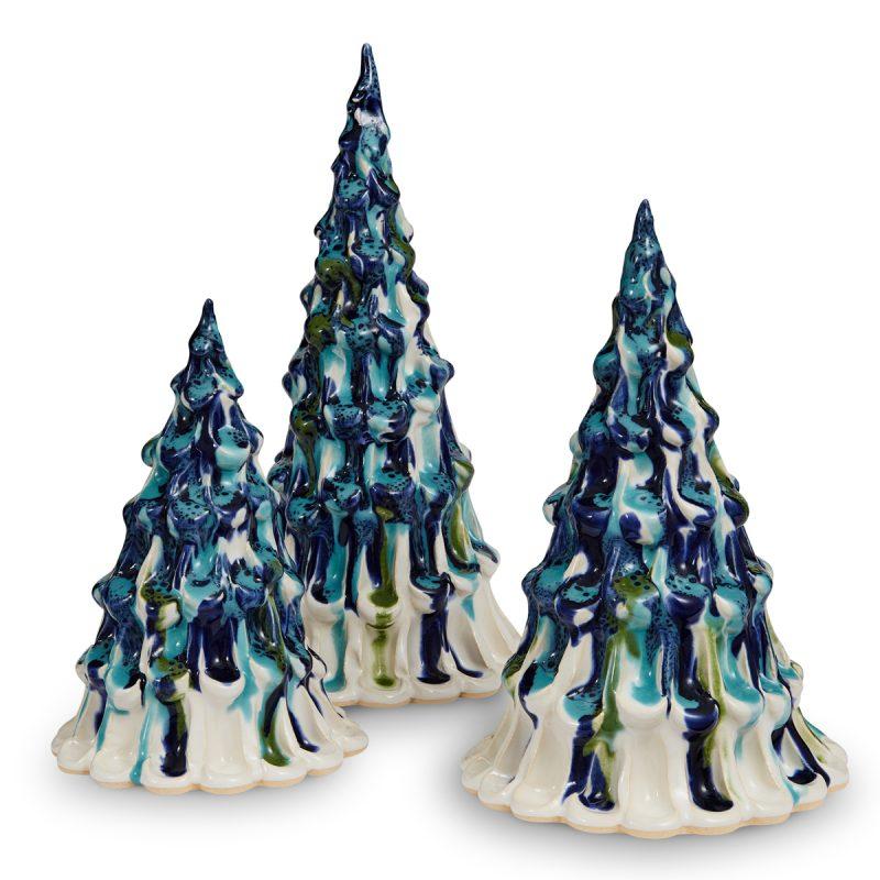 Northern Lights Winter Trees