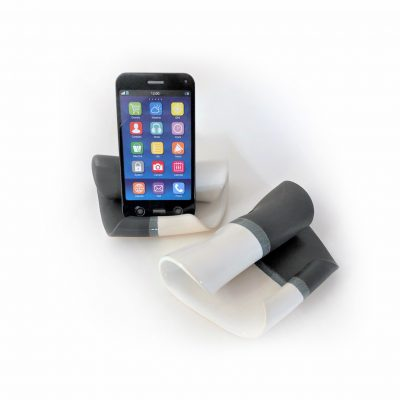 Cell Phone Holder in Black and White