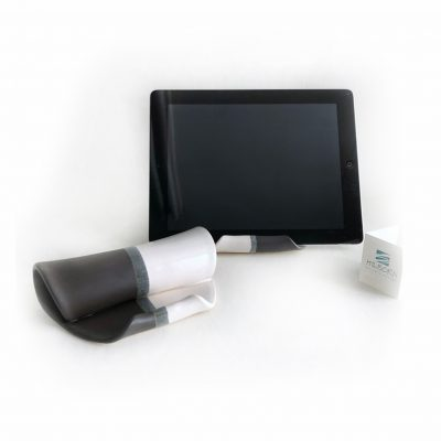 Tablet Holder Shown in Black and White