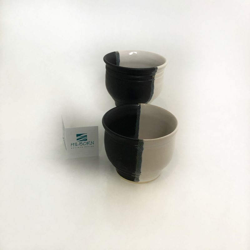 Whiskey Cups in Black and White